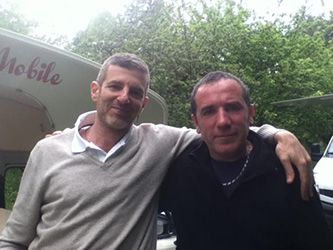 Dan Herzberg avec Marc crêpier ambulant