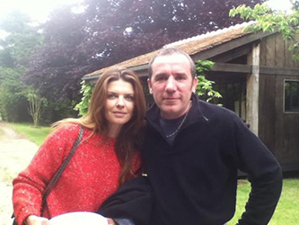 Gwendoline Hamon avec Marc crêpier ambulant
