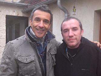 Thierry de Carbonnières avec Marc crêpier ambulant du 78
